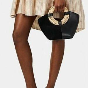 Ulla Johnson Black Leather Suede Axis Mini Bag
